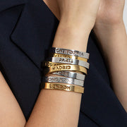 Rhodium Plated Paris Bracelet by Cristina Ramella