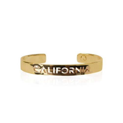 24K Gold Plated California Bangle by Cristina Ramella