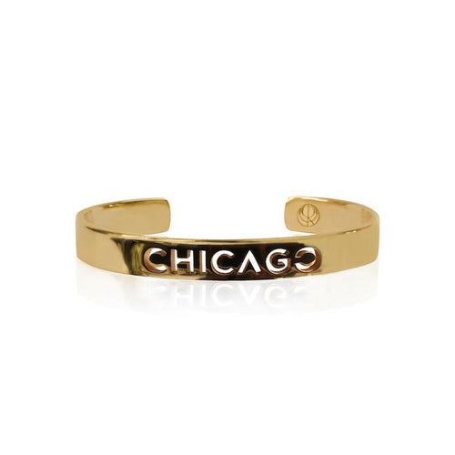 24K Gold Plated Chicago Bangle by Cristina Ramella