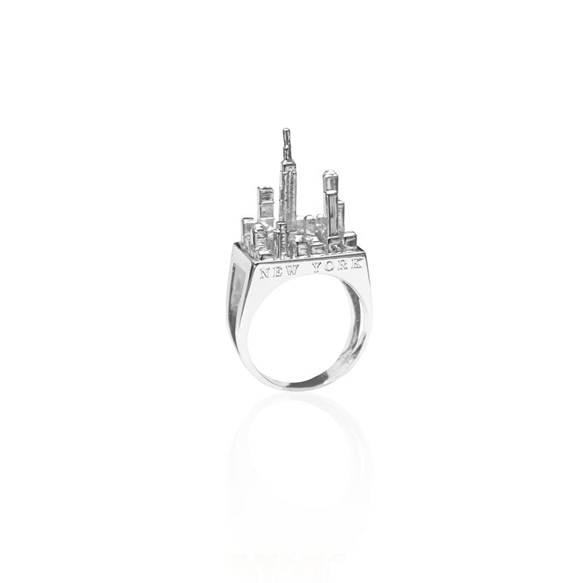 new york city ring silver cristina ramella jewelry travel the world jewelry wanderlust