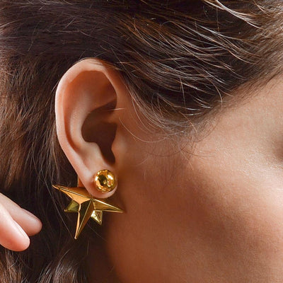 Compass Earrings by Cristina Ramella