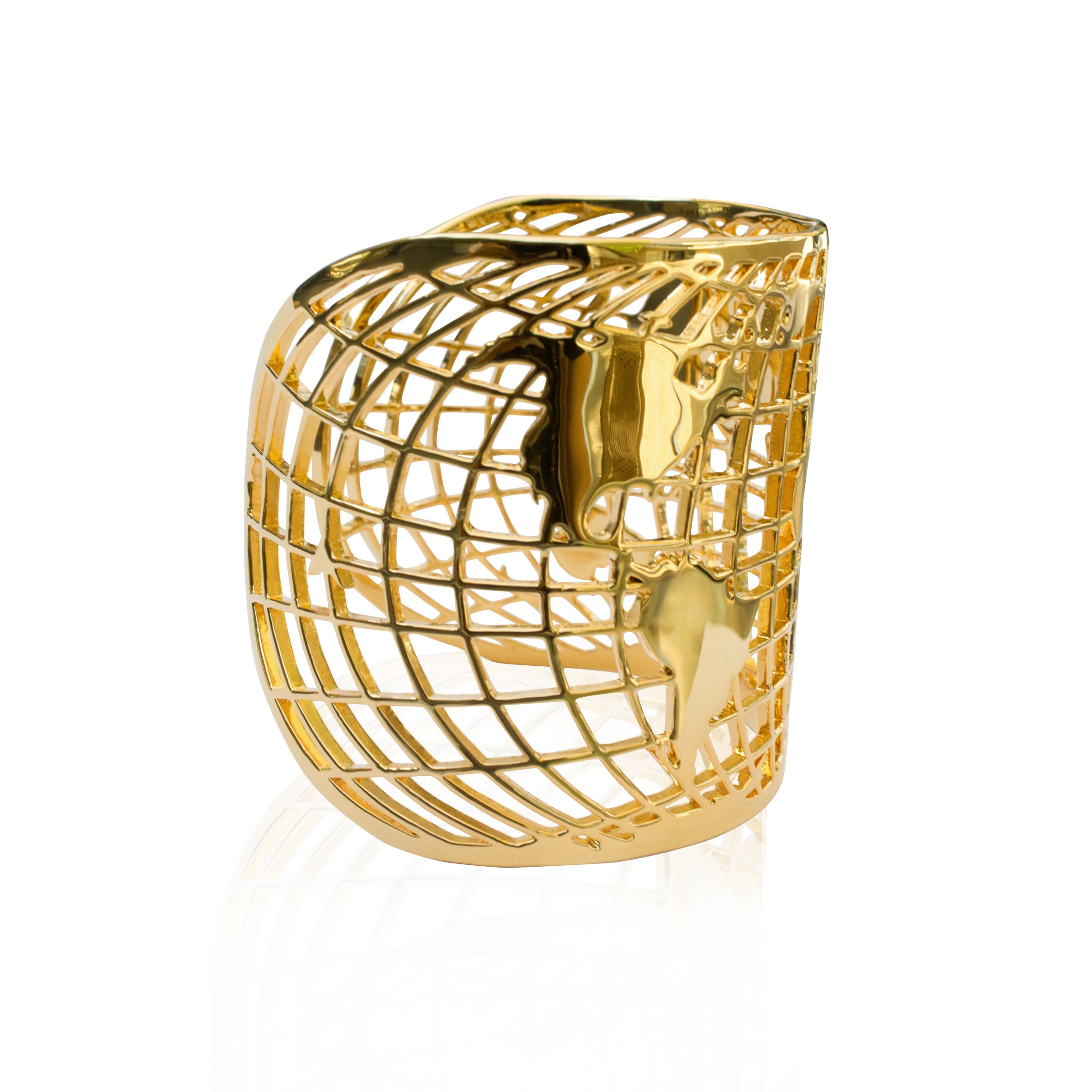 Sample Compass Cuff Gold Plated by Cristina Ramella