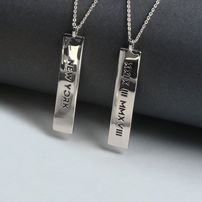 STERLING SILVER DESIGN YOUR STORY Necklace (2 tags)