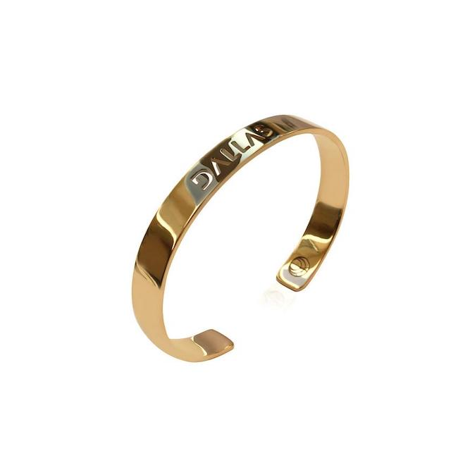 24K Gold Plated Dallas Bangle by Cristina Ramella