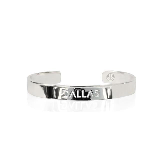 Rhodium Plated Dallas Bangle by Cristina Ramella