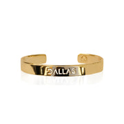 24K Gold Plated Dallas Bracelet Bangle by Cristina Ramella