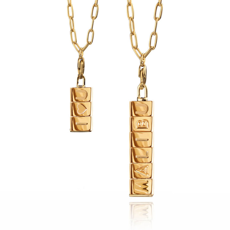 Double Bricks Necklace by Cristina Ramella