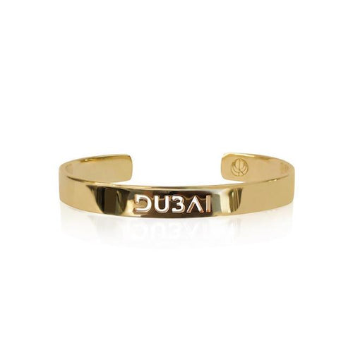 24K Gold Plated Dubai Bangle by Cristina Ramella