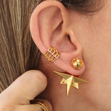 Compass Ear Cuff 24K Gold Plated