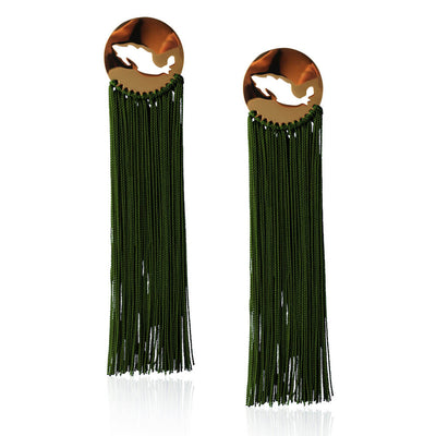 Green Gracias Mexico Earrings by Cristina Ramella
