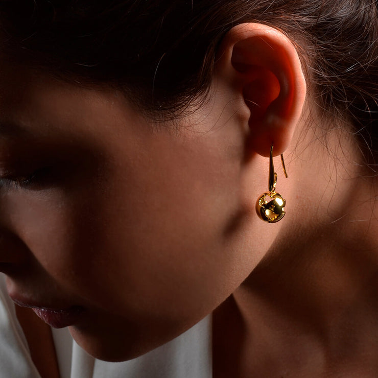 Gold Earth Earrings by Cristina Ramella