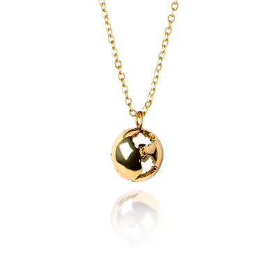 Gold Earth Necklace by Cristina Ramella