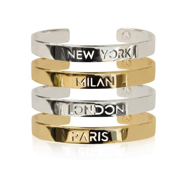 Fashion Week Bangle Stack by Cristina Ramella