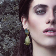 green saphire earrings diamonds cristina ramella jewelry luxury for her