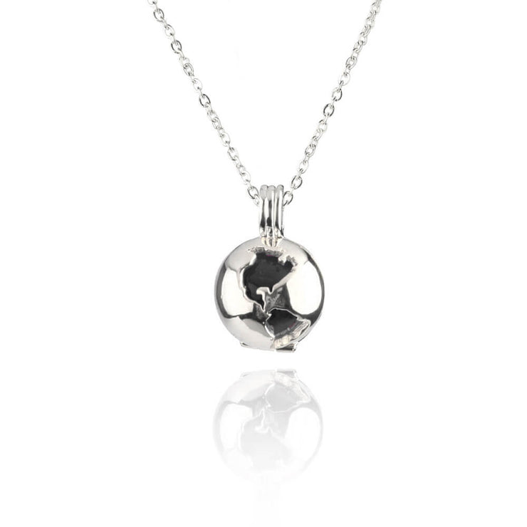 Globe Locket Black Obsidian by Cristina Ramella