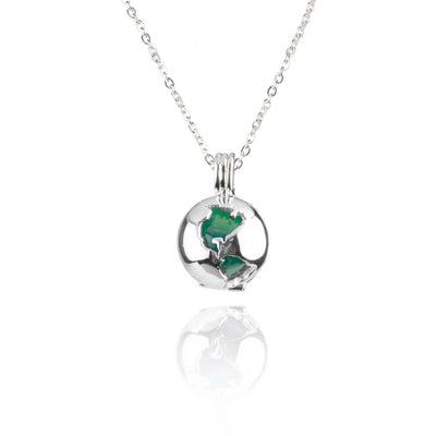 Globe Locket Jade Sterling Silver