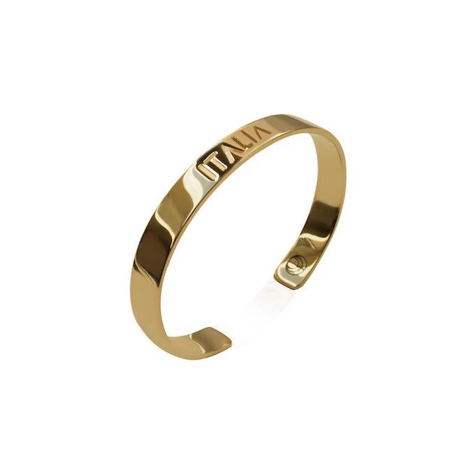 24K Gold Plated Italia Bracelet Bangle by Cristina Ramella