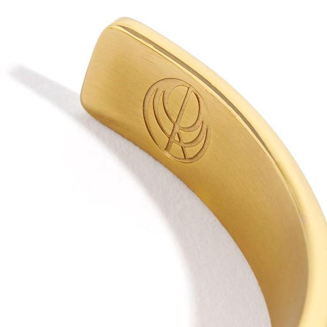 24K Gold Plated Bangle by Cristina Ramella