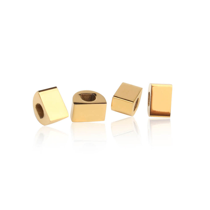 Gold Simple Bricks by Cristina Ramella