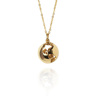 14K Globe Necklace by Cristina Ramella