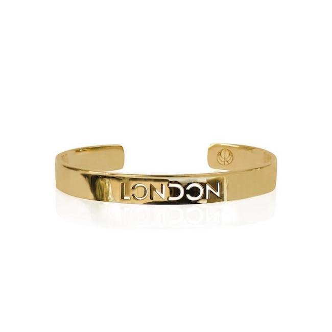 24K Gold Plated London Bracelet Bangle by Cristina Ramella