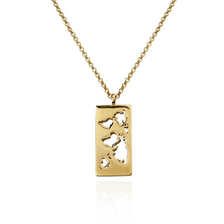 Map Necklace by Cristina Ramella