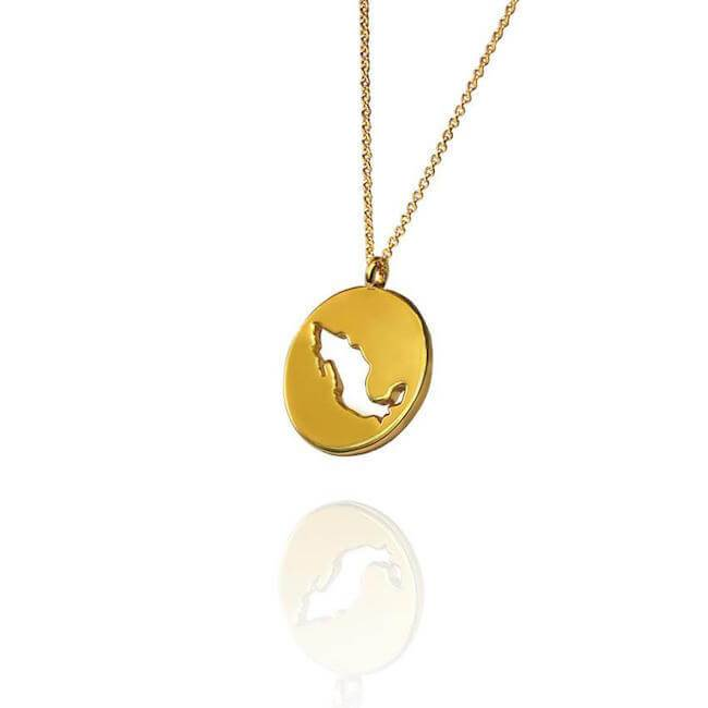14K Gold Mexico Necklace
