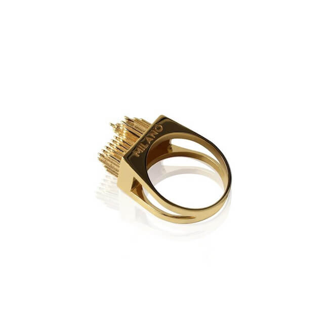 24K Gold Plated Milano Ring by Cristina Ramella