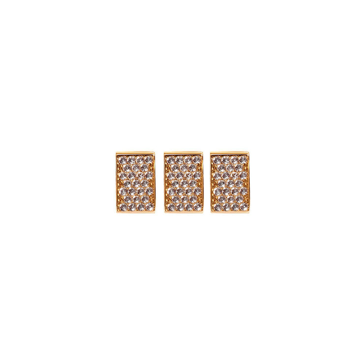 Gold Plated Pave Brick by Cristina Ramella