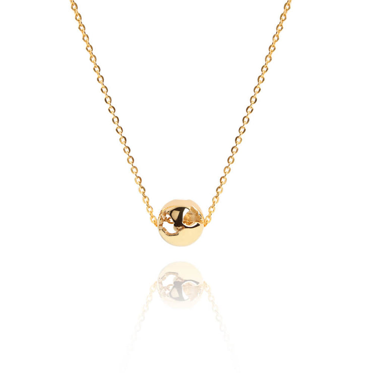 Gold Charm Necklace by Cristina Ramella
