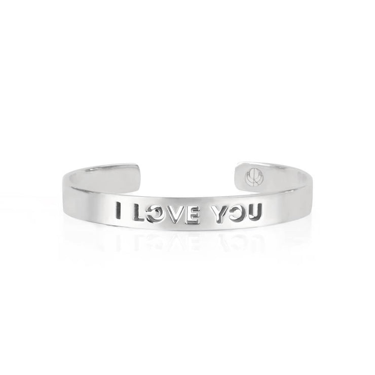 I love You Rhodium Bracelet by Cristina Ramella