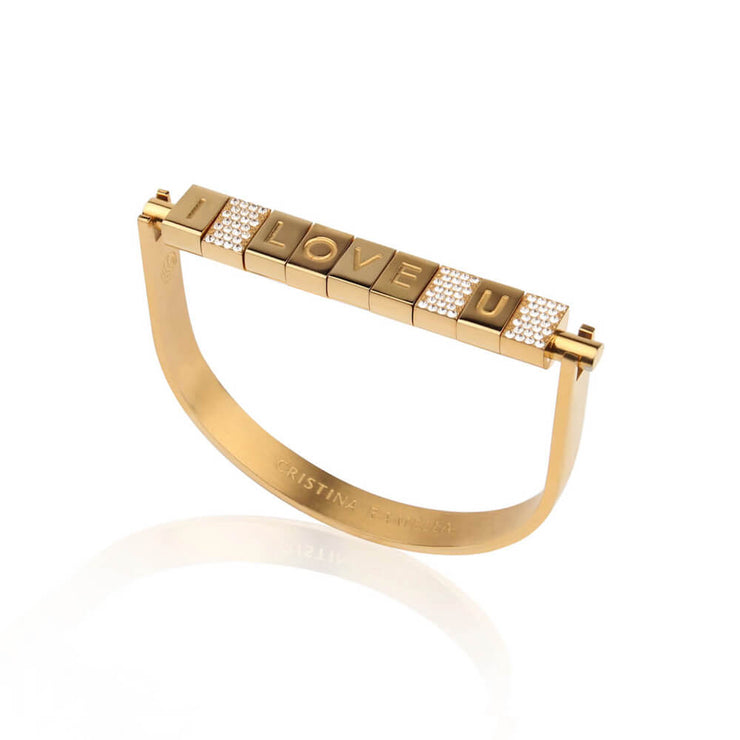 I love You Bricks Bracelet by Cristina Ramella