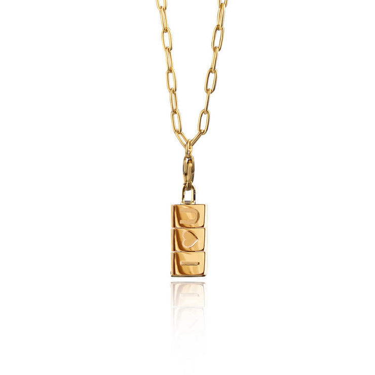 I love you Bricks Necklace by Cristina Ramella
