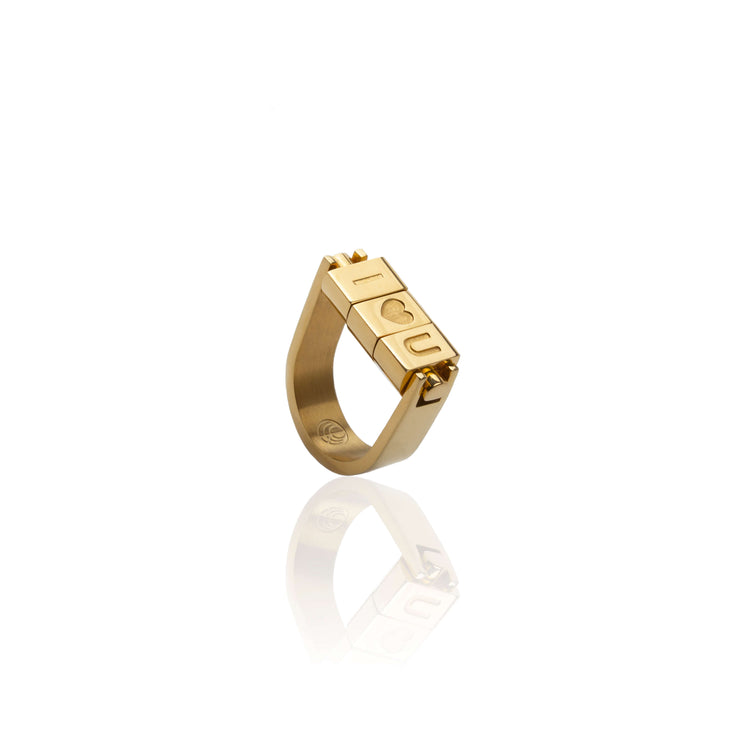 I love you Bricks Rings by Cristina Ramella