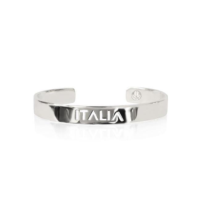 Rhodium Plated Italia Bracelet Bangle by Cristina Ramella