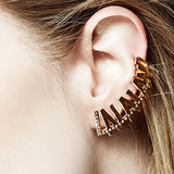 24K Gold Plated LALALAND typography with Crystals by Artelier Model View
