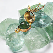 Globe Locket Jade by Cristina Ramella