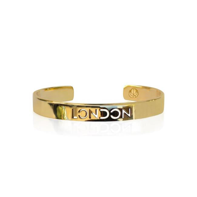 24K Gold Plated London Bangle by Cristina Ramella