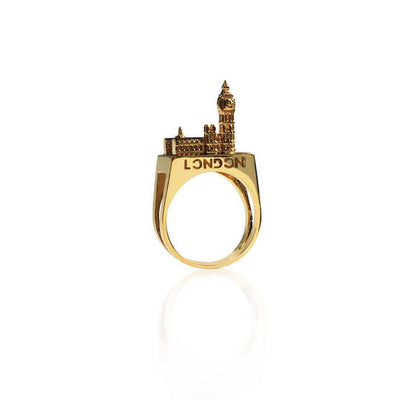 24K Gold Plated London Ring by Cristina Ramella
