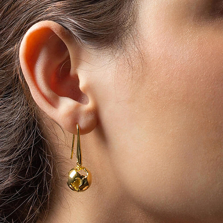 Long Earth Earrings by Cristina Ramella