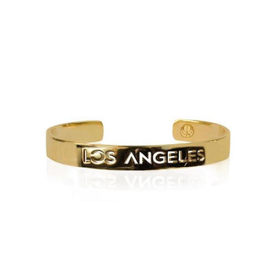 24K Gold Plated Los Angeles Bracelet Bangle by Cristina Ramella