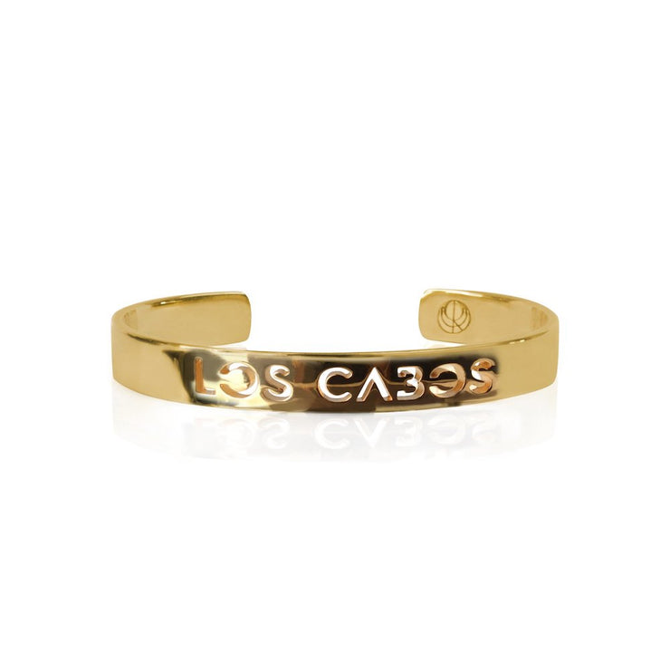 24K Gold Plated Los Cabos Bracelet Bangle by Cristina Ramella