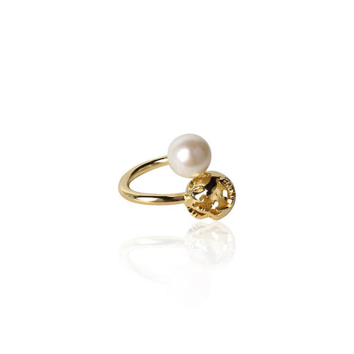 Gold Luna Ring by Cristina Ramella