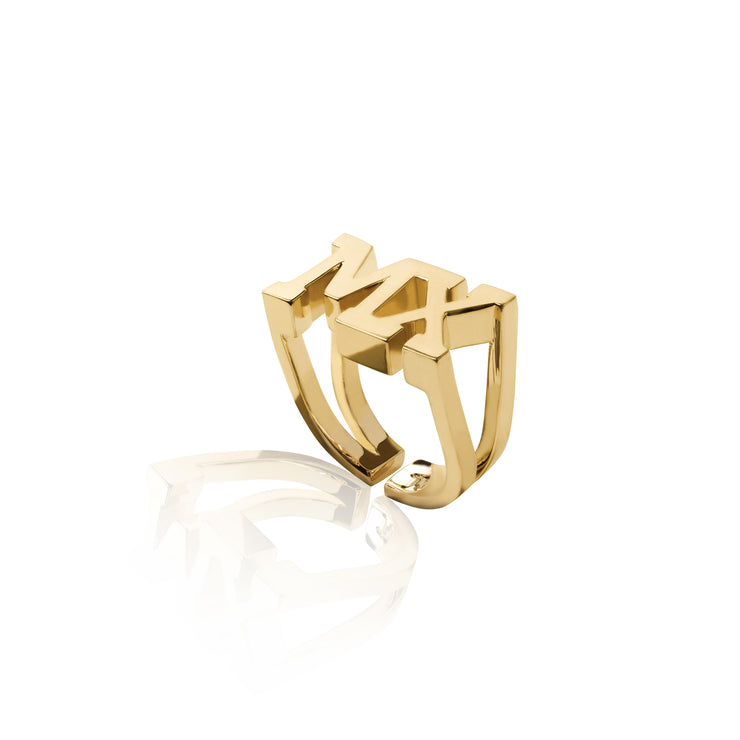 24K Gold Plated MX Ring by Cristina Ramella