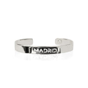Rhodium Plated Bracelet Bangle by Cristina Ramella