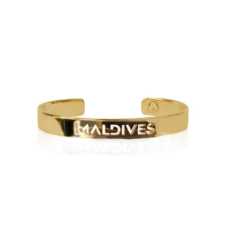 24K Gold Plated Maldives Bracelet Bangle by Cristina Ramella