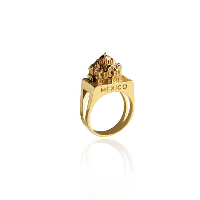 24K Gold Plated Mexico Ring by Cristina Ramella