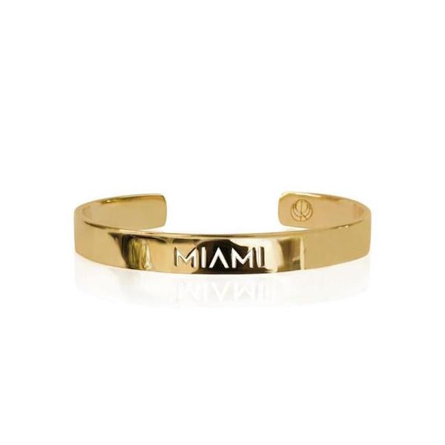 Sample 24K Gold Plated Miami Bracelet by Cristina Ramella