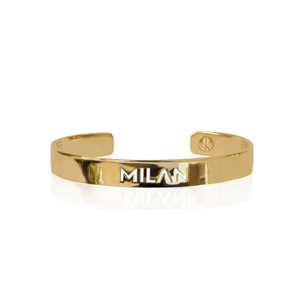 24K Gold Plated Milan Bracelet Bangle by Cristina Ramella