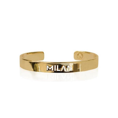 Sample 24K Gold Plated Milan Bracelet by Cristina Ramella